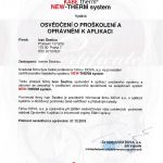 certifikat New Therm System